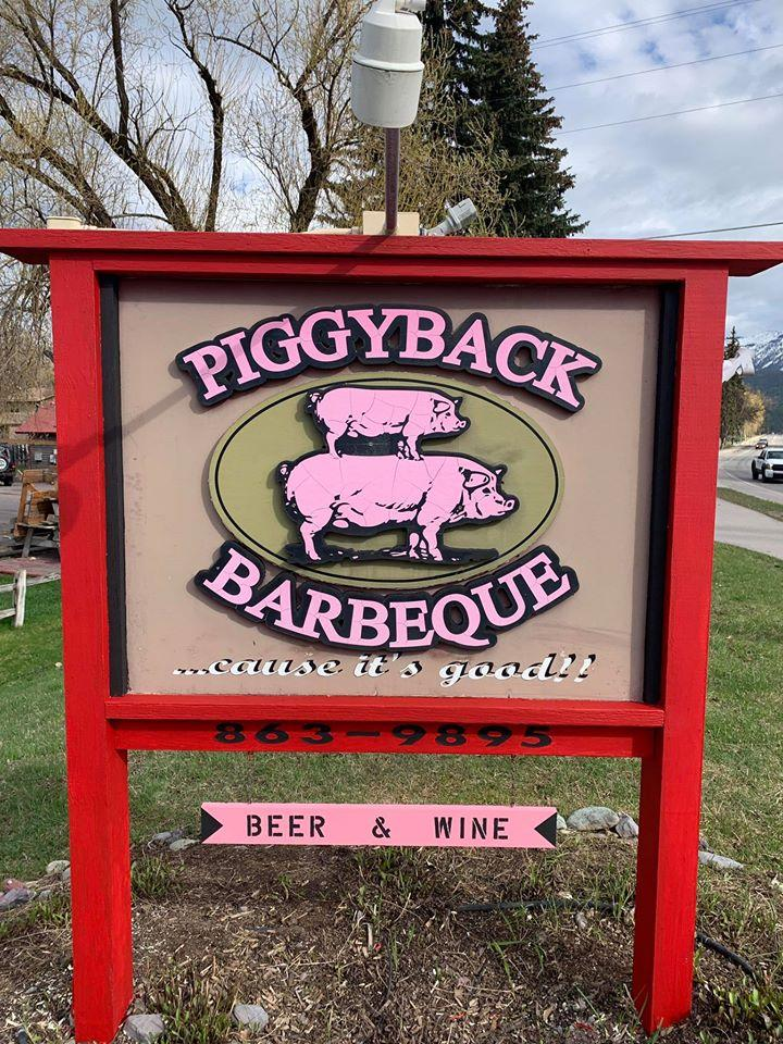 Look for the sign to the best BBQ in Whitefish!
