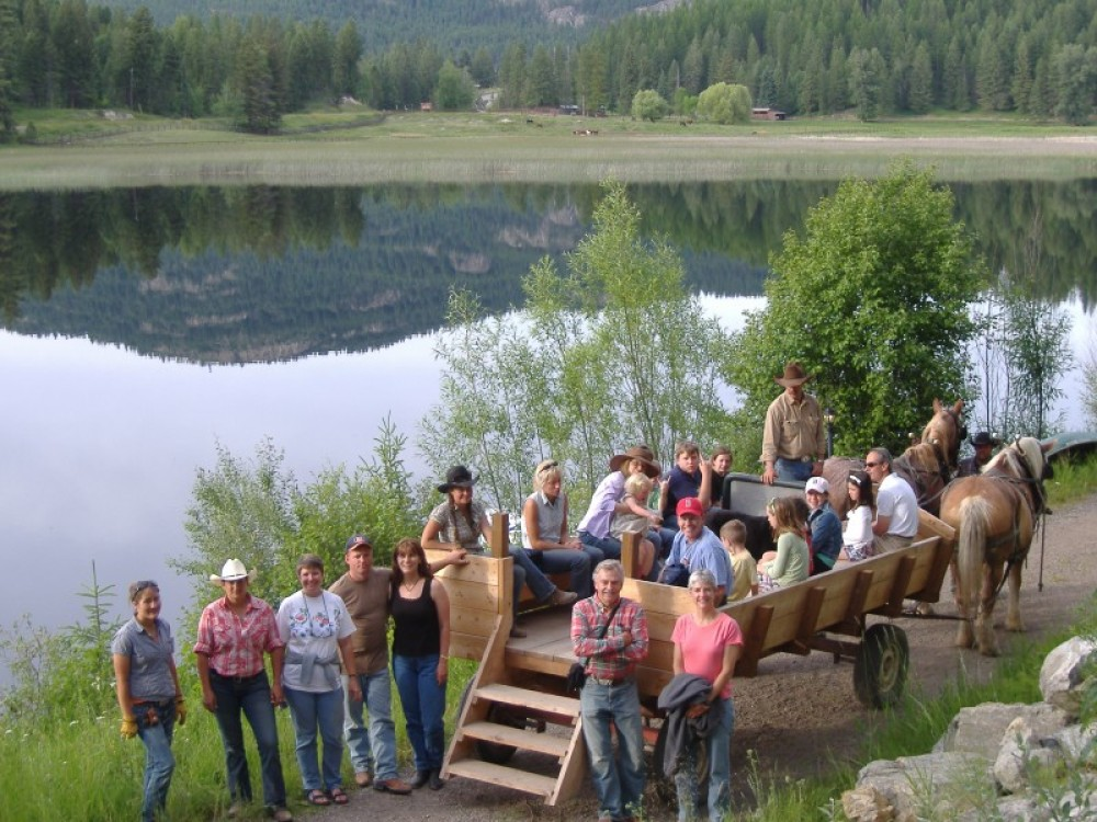 The Bar W has great group activities including wagon rides, chuck wagon dinners and barrel racing. – courtesy Bar W Guest Ranch