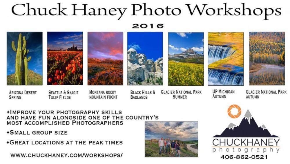 2016 Photography workshops – Chuck Haney