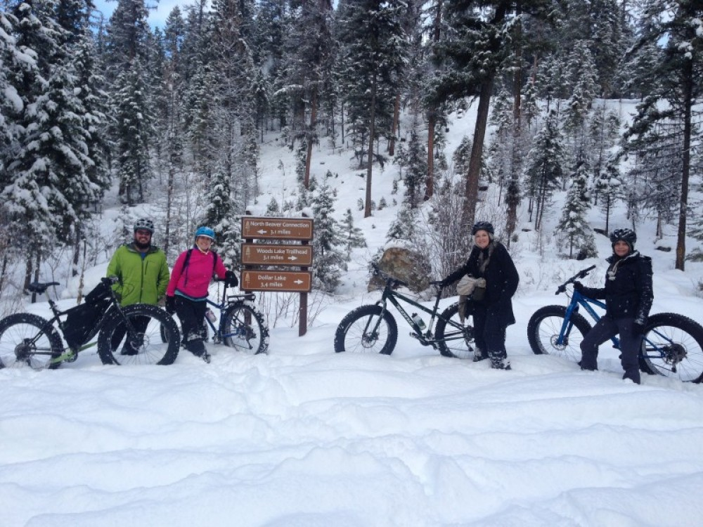 In the winter, renting fat bikes makes for a unique outing. – Jessica Downing