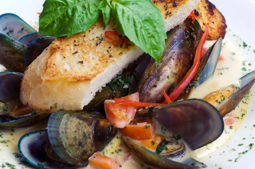 New Zealand Mussels is a favorite at Whitefish Lake Restaurant – Clint Walker