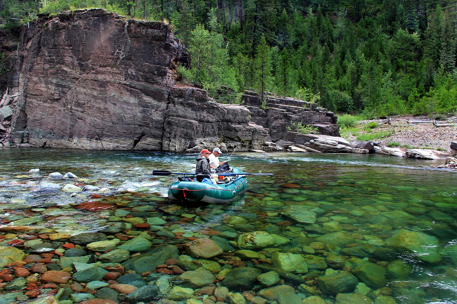 Fishing on the Middle Fork of the Flathead River // Photo: Brian Schott