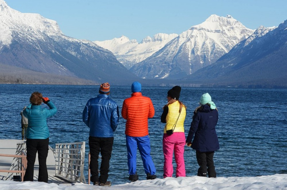 Taking it all in at the dock at the foot of Lake McDonald. – Devin Schmit