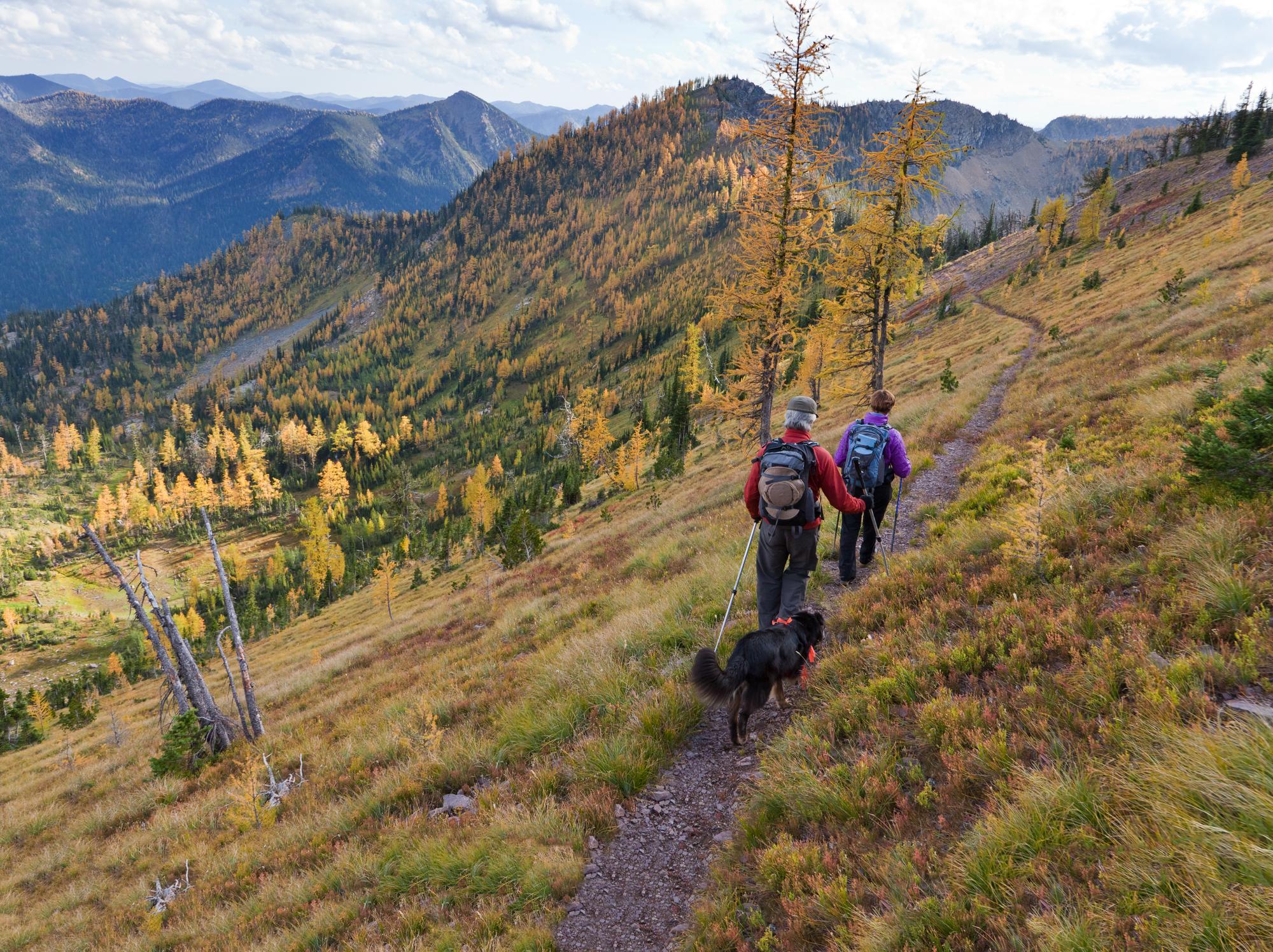 Hiking in the Whitefish Range // Photo: Chuck Haney