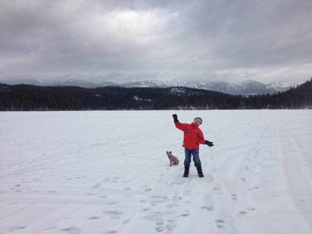 Exploring Frozen Beaver Lake From The Whitefish Bike Retreat – Cricket Butler