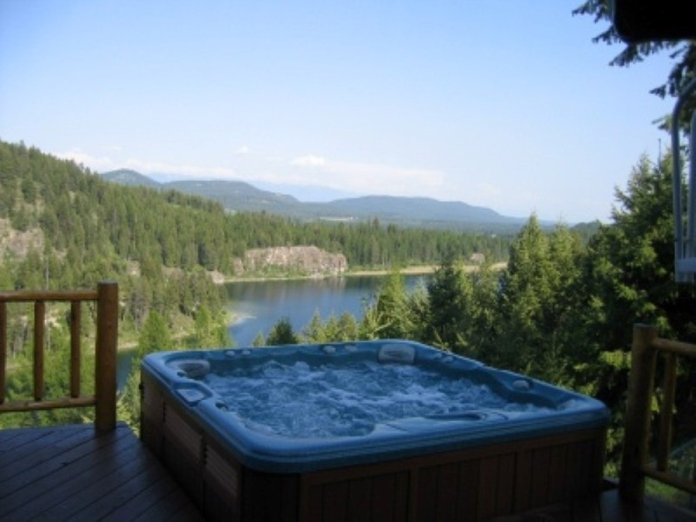 Enjoy our Bootjack Lake vacation home with spectacular views overlooking the lake and Flathead Valley. 4 Bedroom, Sleeps 8