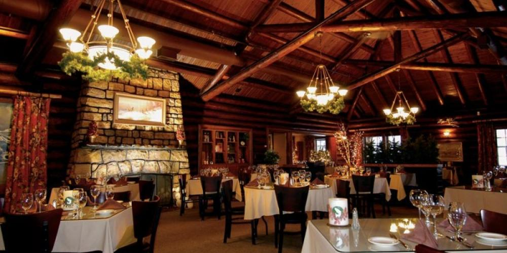 Dine in a classic and historical settingWhitefish Lake Restaurant – Courtesy of Whitefish Lake Restaurant