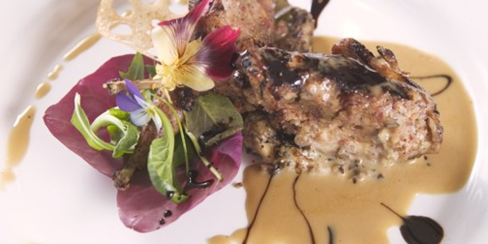 Andouille Stuffed Quail, Aged Sherry-Warm Cane Emulsion, Duxelles – Living Images