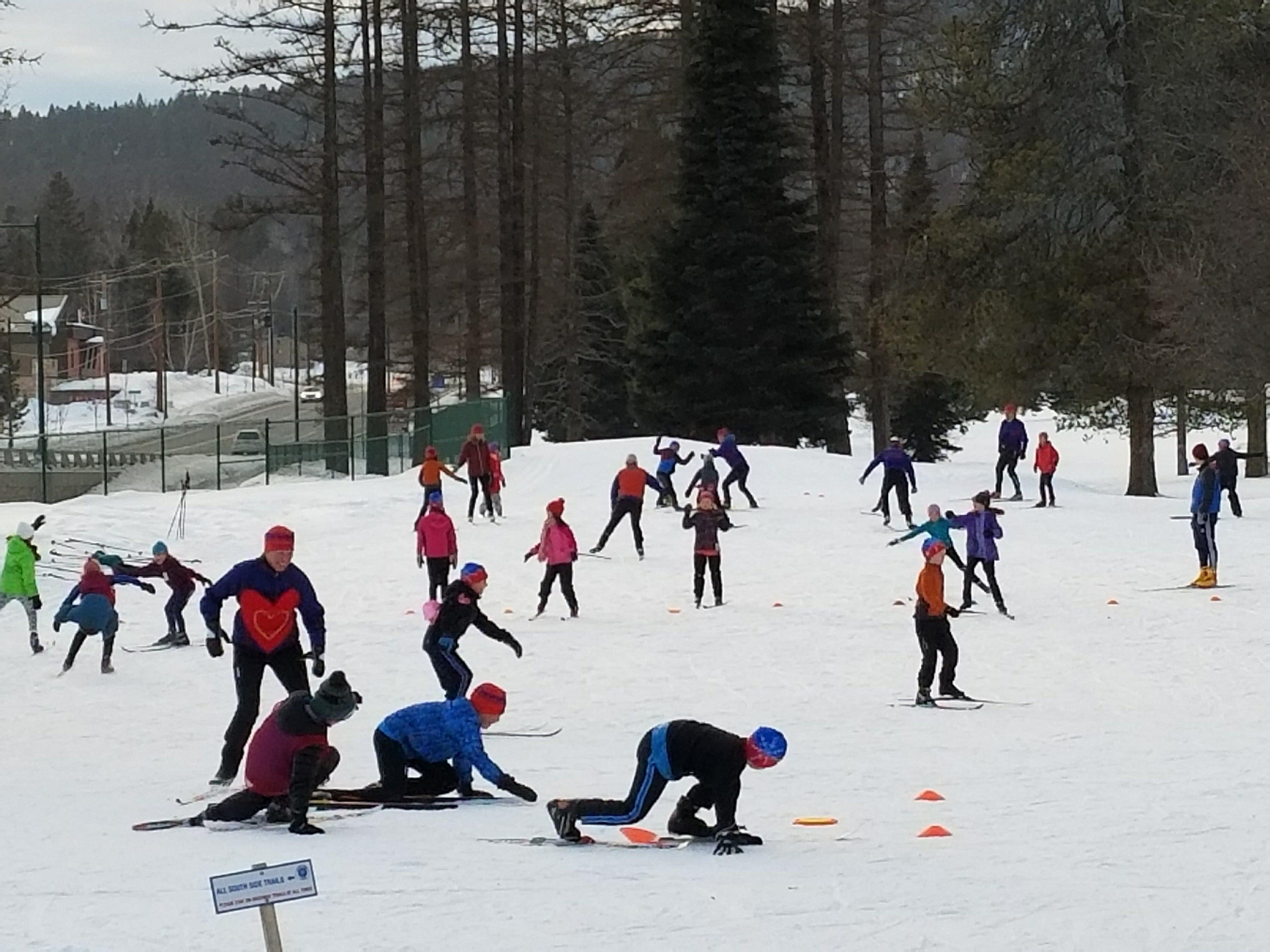 Glacier Nordic Ski Team kids at play