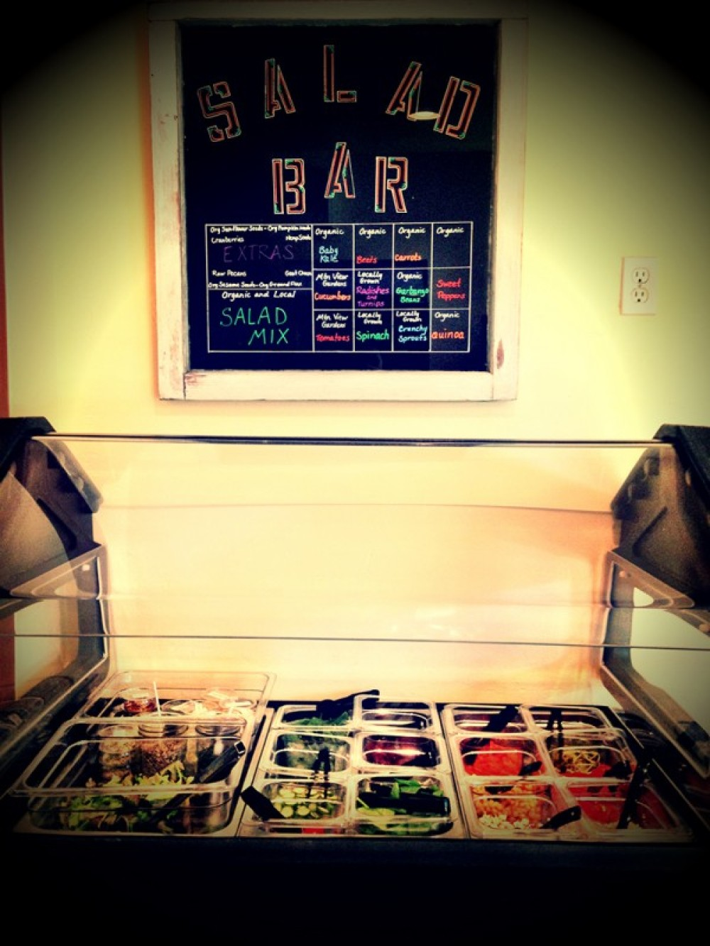 Salad Bar All ingredients are Organic and Local when available! – Lynon Lohof