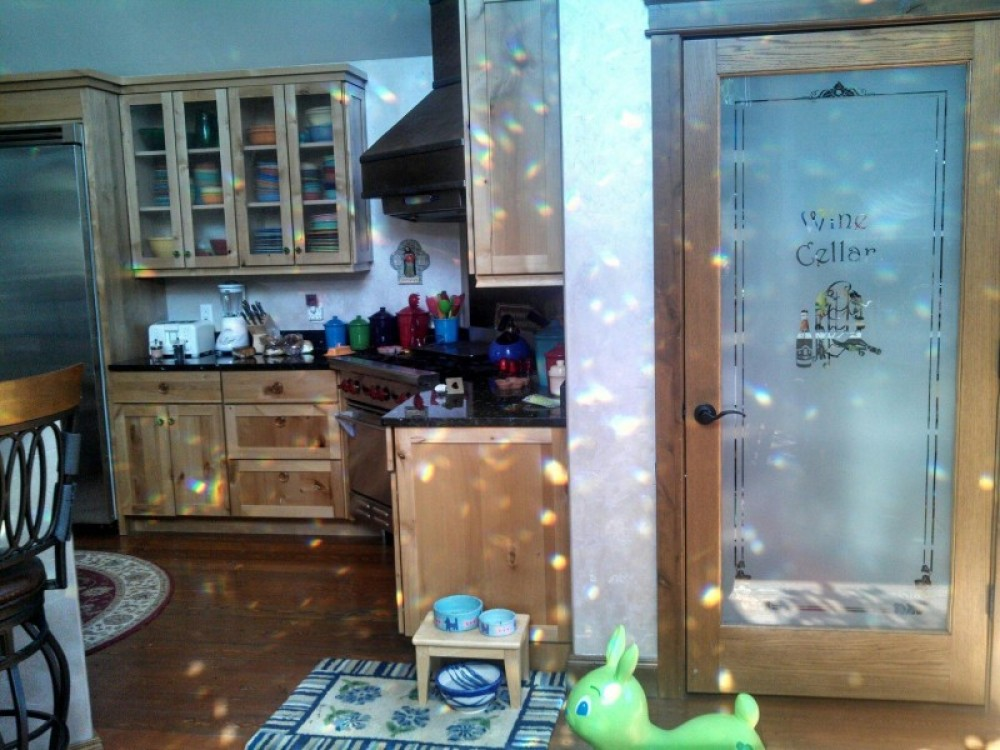 Kitchen area, covered by rainbows – bill montgomery