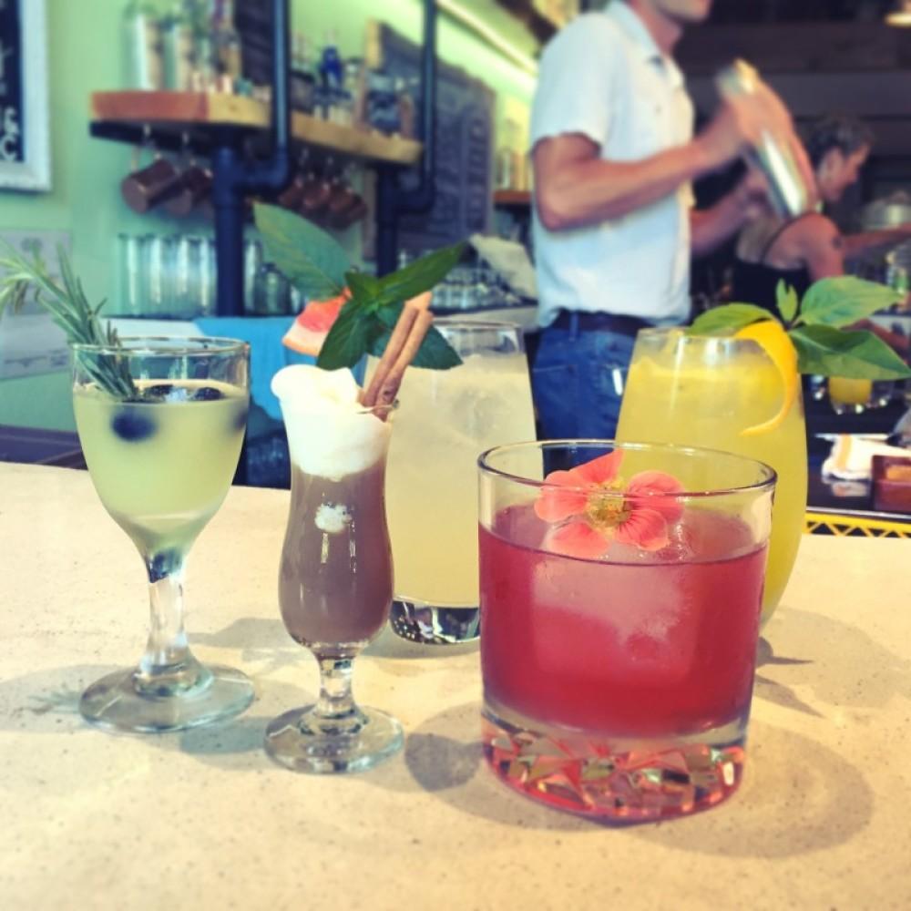 Fresh mixed drinks at Spotted Bear Spirits distillery. – Brian Schott