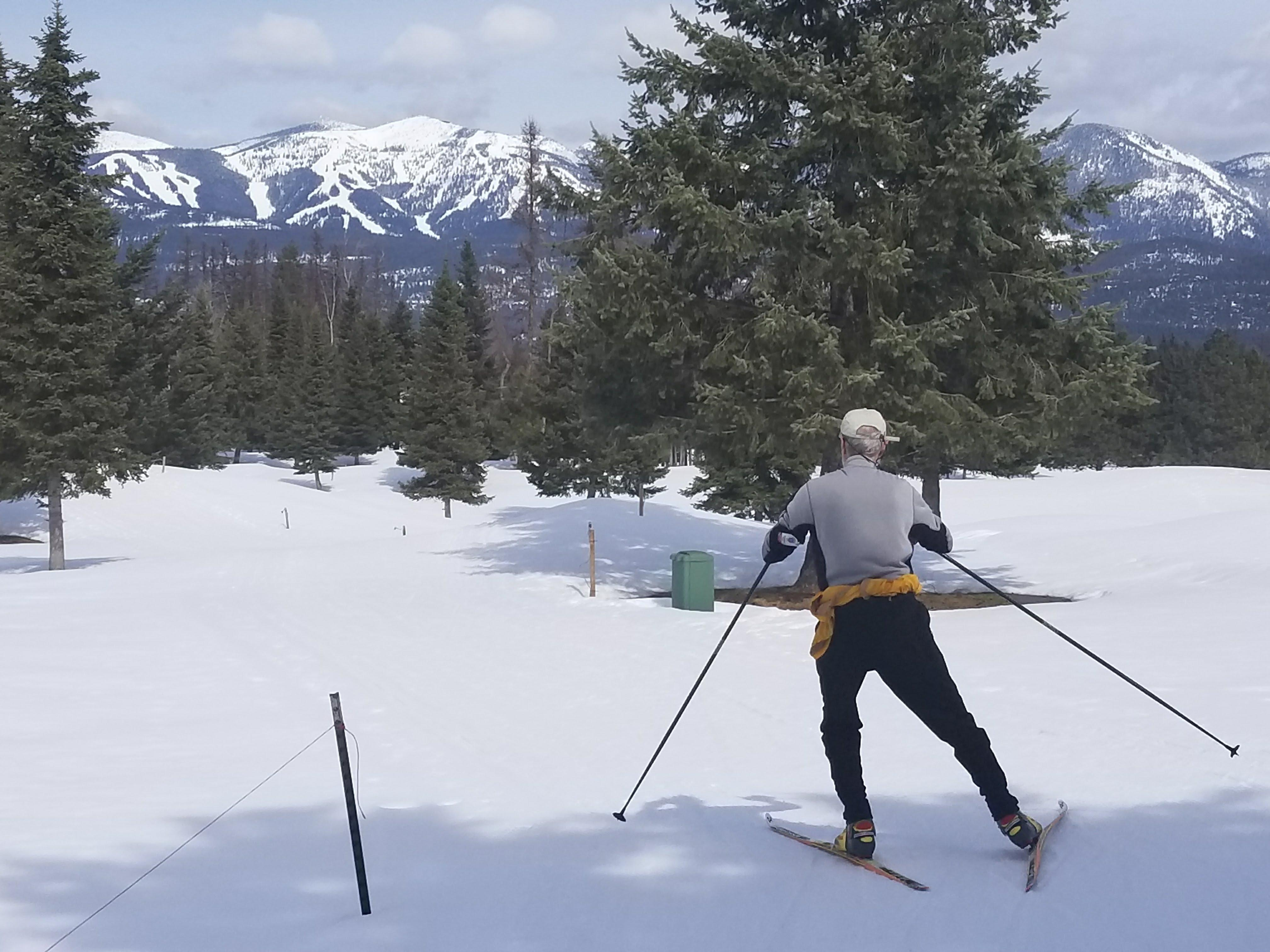 Spring Skiing with a View!