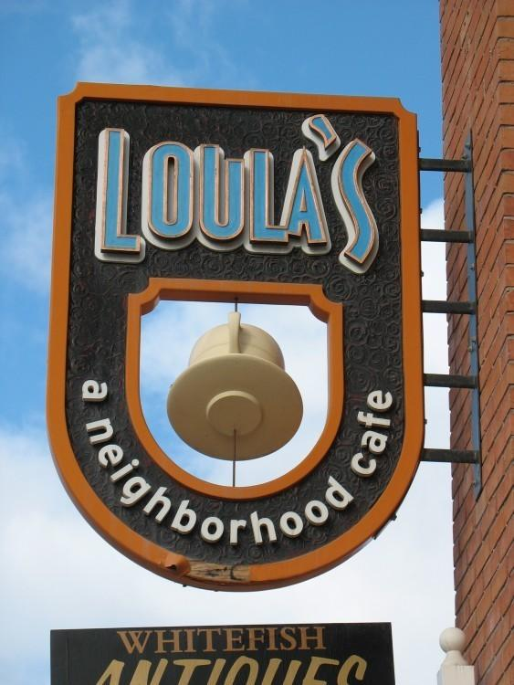Look for the Loula's Cafe sign