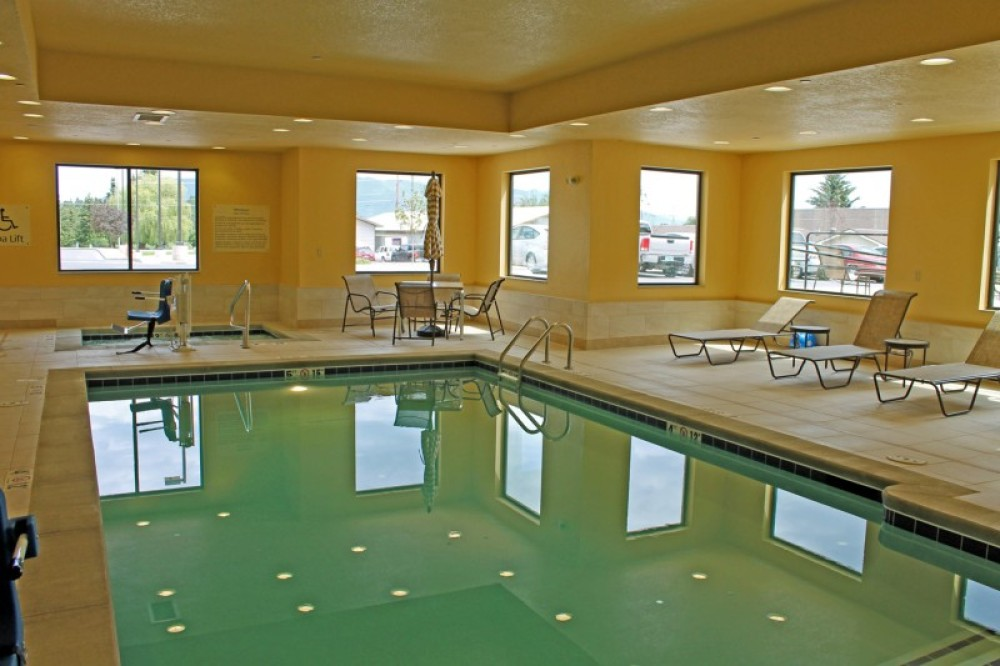 Salt water swimming pool and hot tub