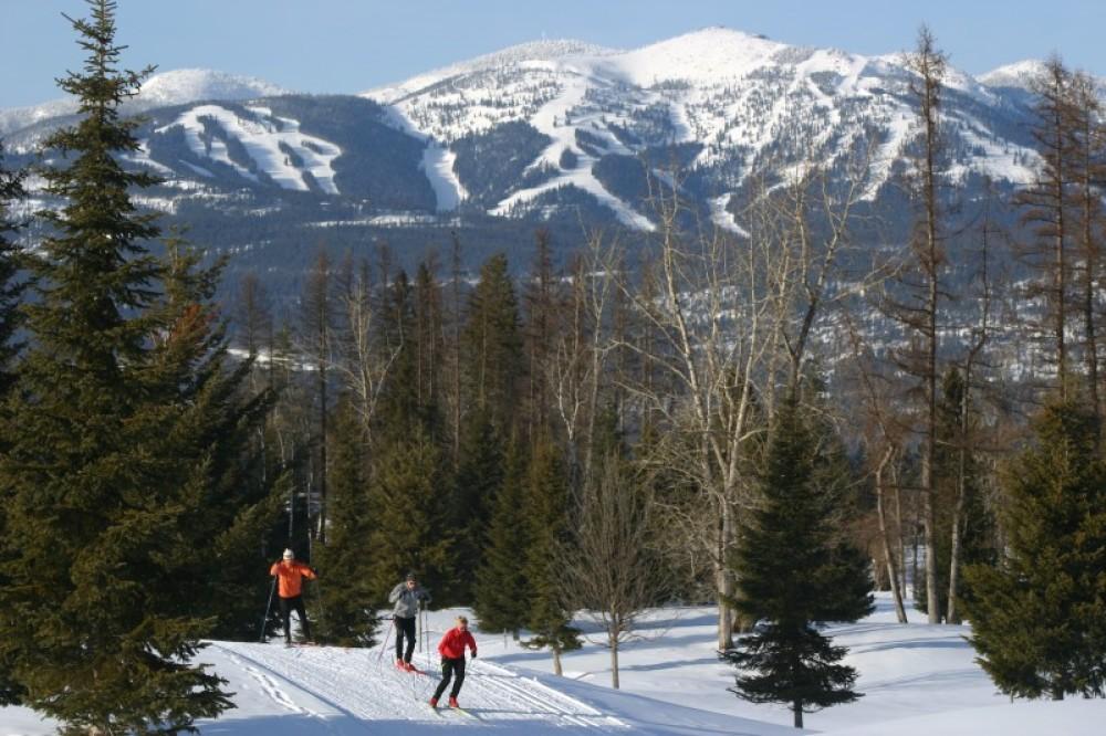 Skiers at the Glacier Nordic Center – Brian Schott