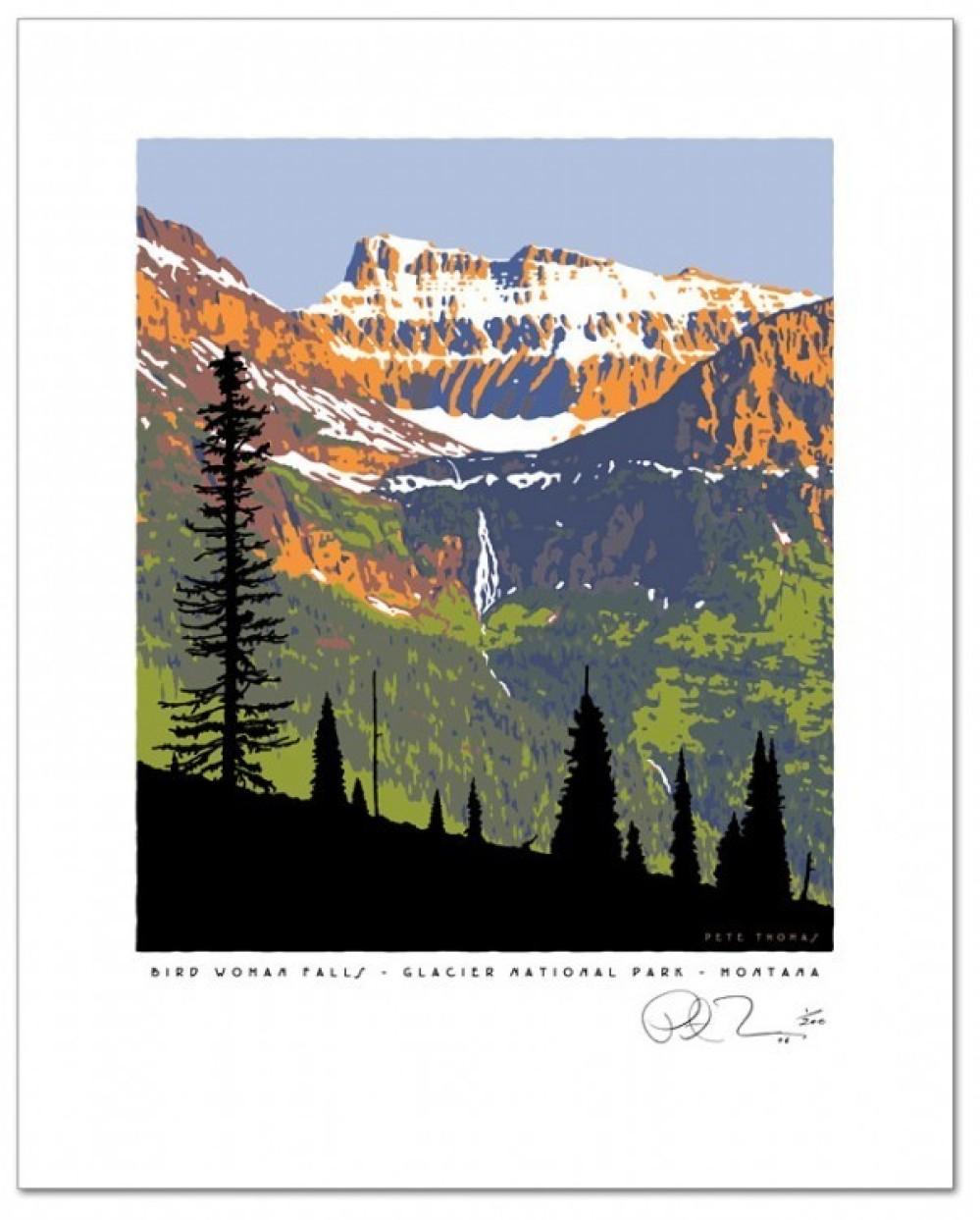 Bird Woman Falls-Glacier Park – Pete Thomas
