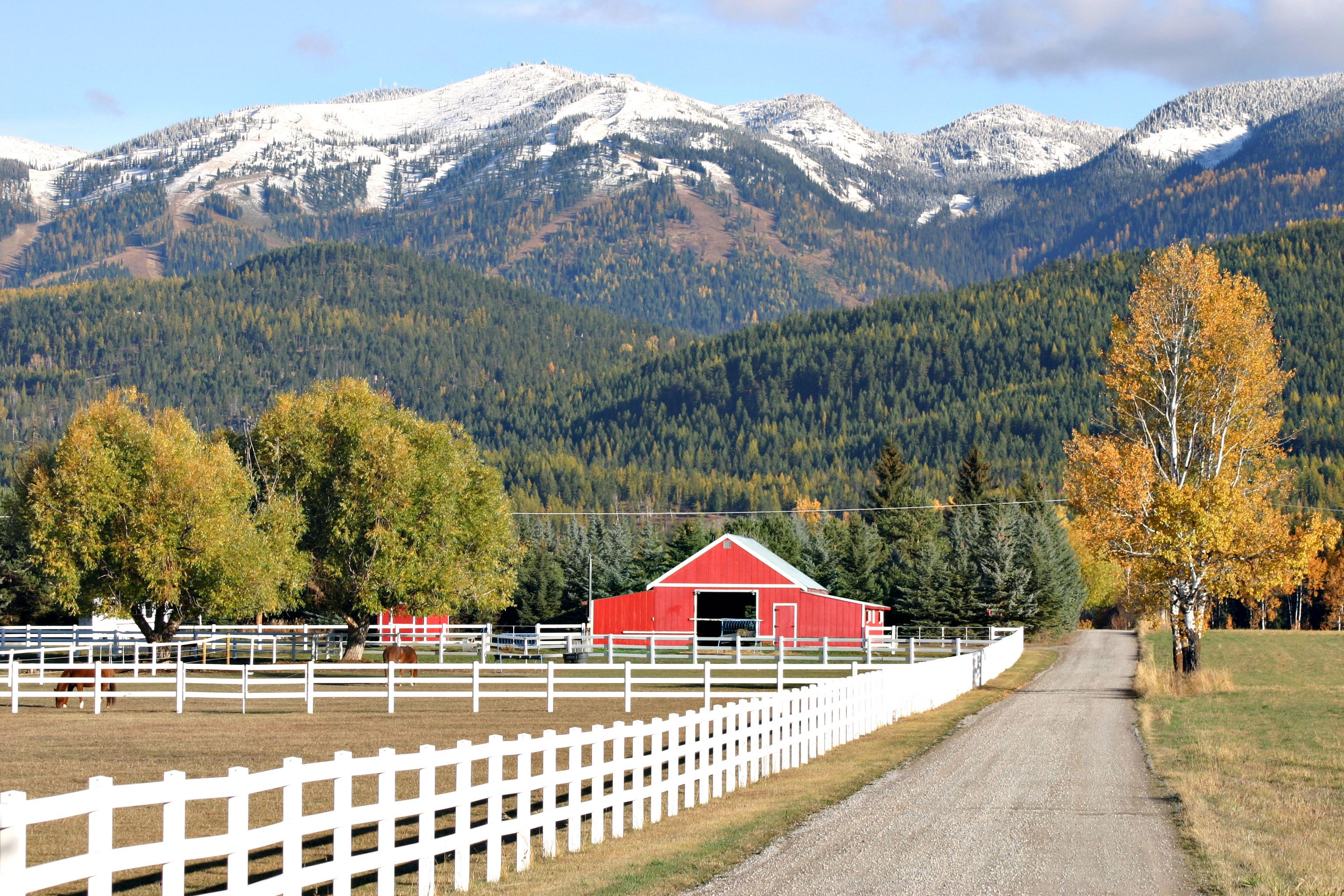 An Autumn dusting of snow on Big Mountain // Photo: Brian Schott