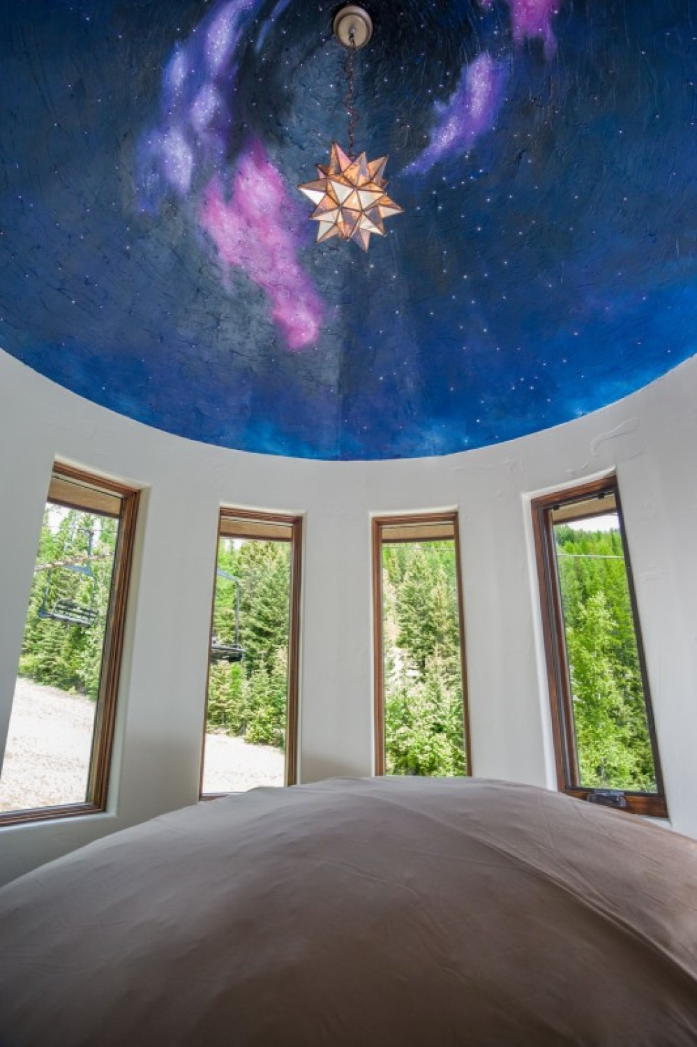 Relax underneath the stars or just watch the chairlift go by in the turret – Trevon Baker