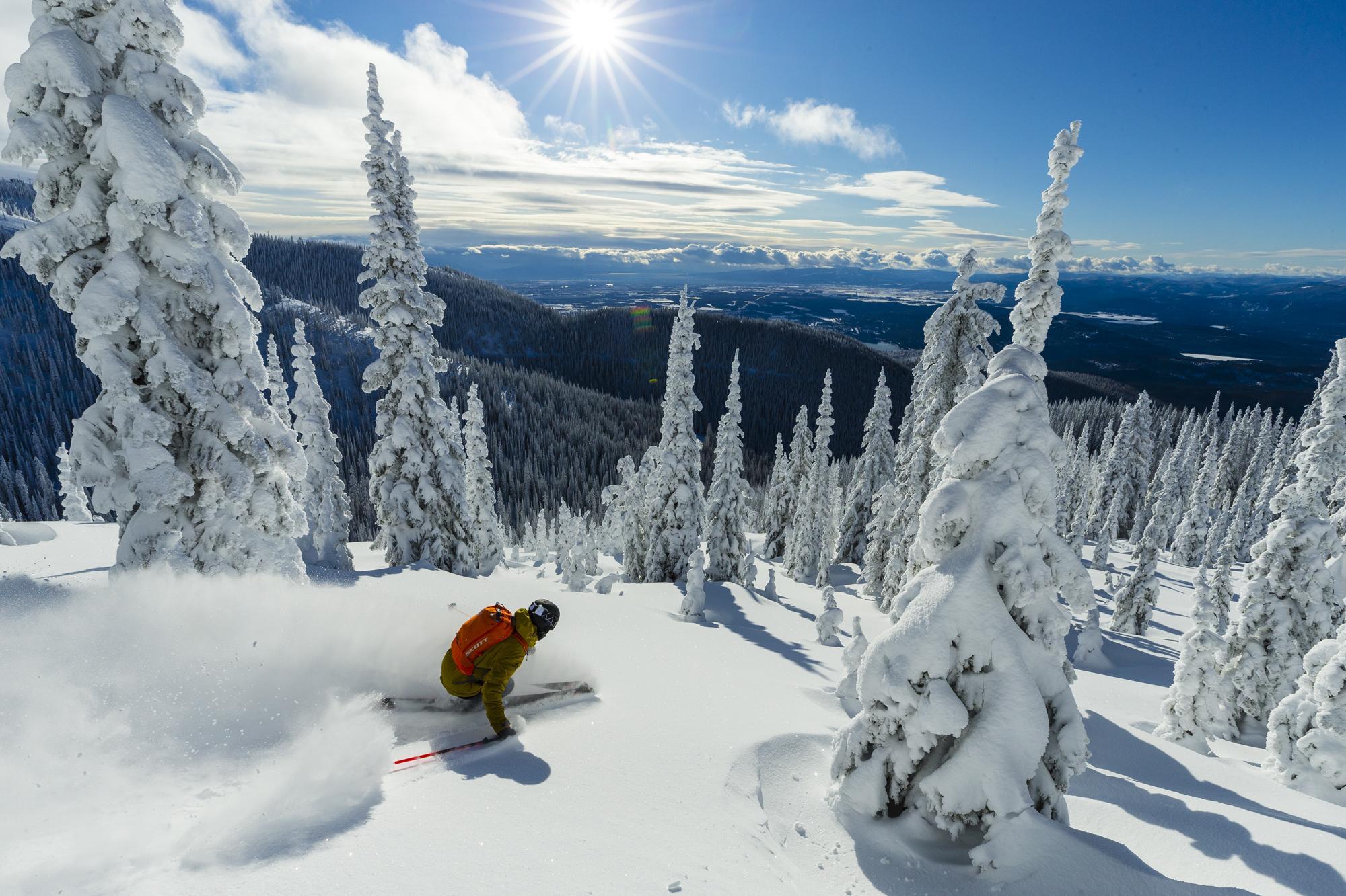 Skiing at Whitefish Mountain Resort // Photo: Grant Gunderson