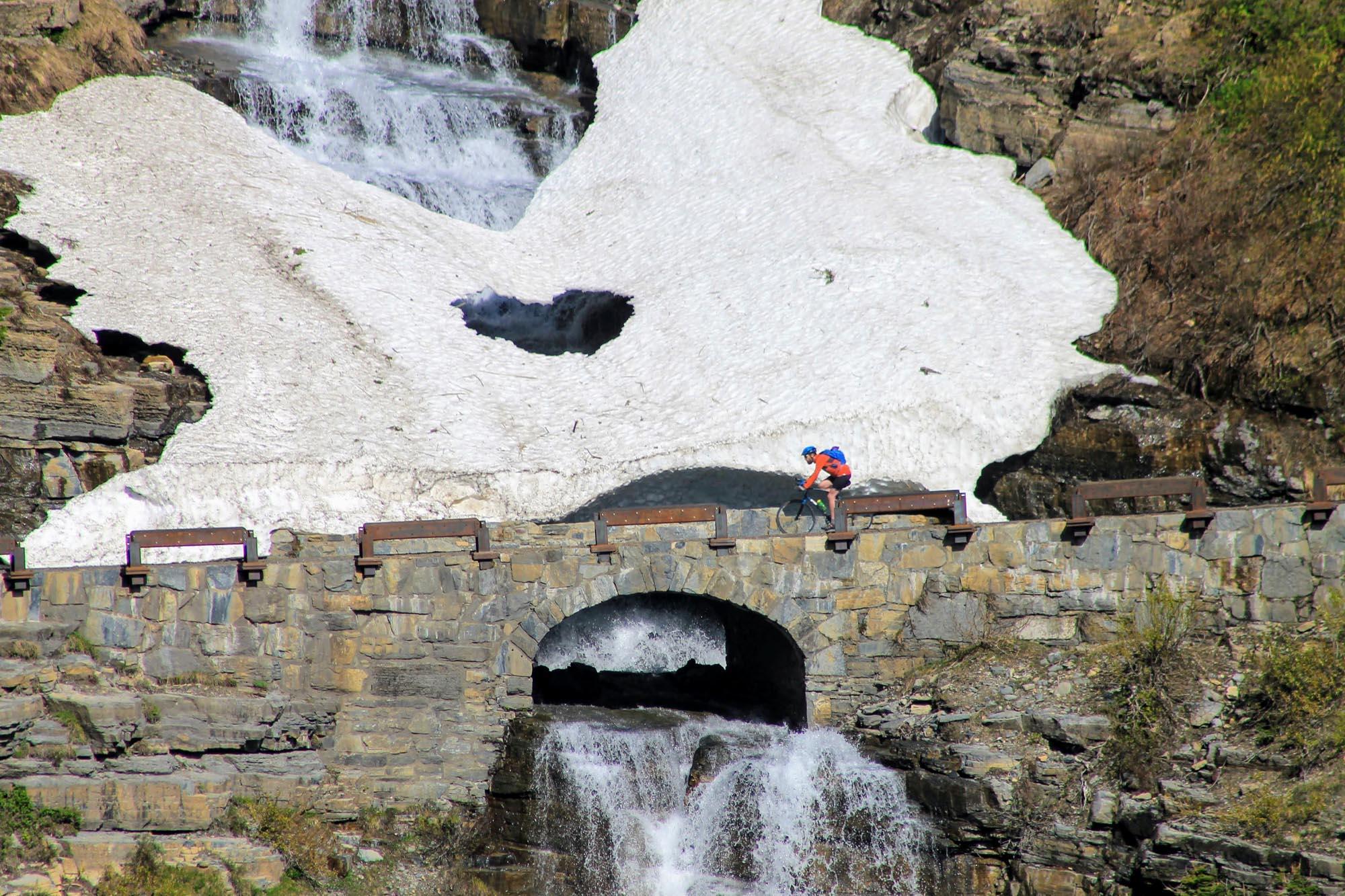 Waterfalls are plentiful along the journey to Logan Pass