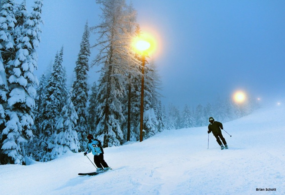 Night skiing at Whitefish Mountain Resort – Brian Schott