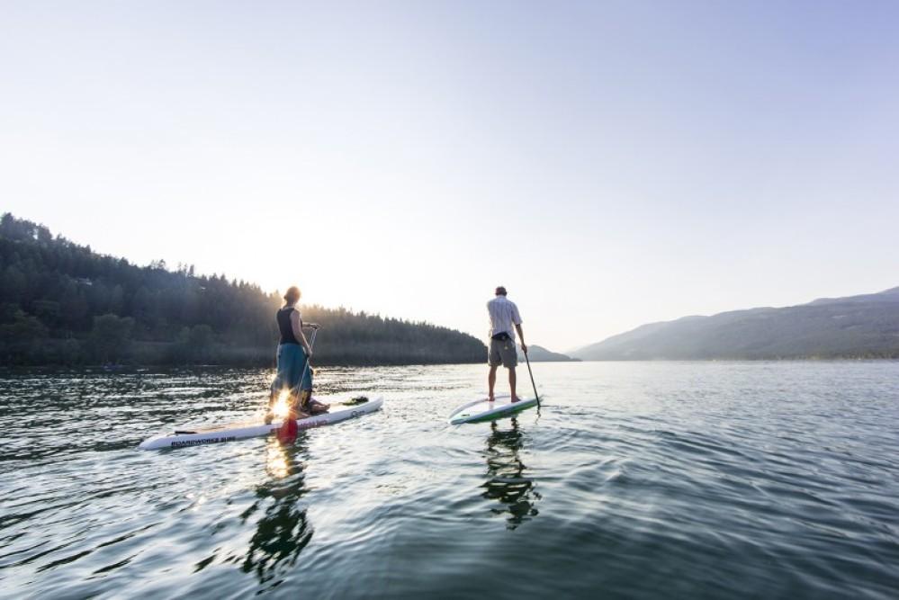 Paddling on Whitefish Lake. – Chuck Haney