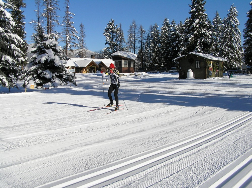 Chance out for some fast skiing – laura