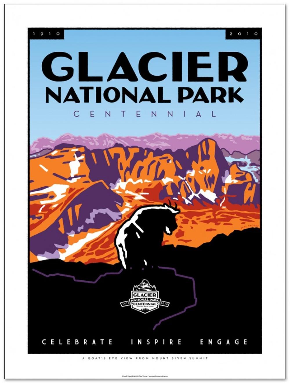 Pete Thomas Glacier Centennial poster – Pete Thomas