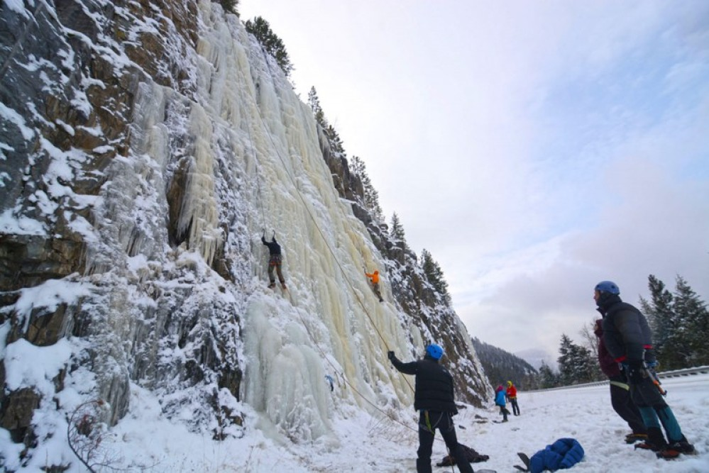 Stone Hill's ice features are 90 feet tall and roadside! Doesn't get any easier than that. – Devin Schmit