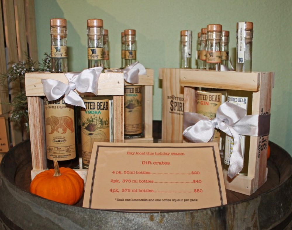 Get into the holiday spirit with a gift box from Spotted Bear Spirits. Vodka, Gin, Coffee Liquor or Cellos are the perfect hostess gift for every holiday party.