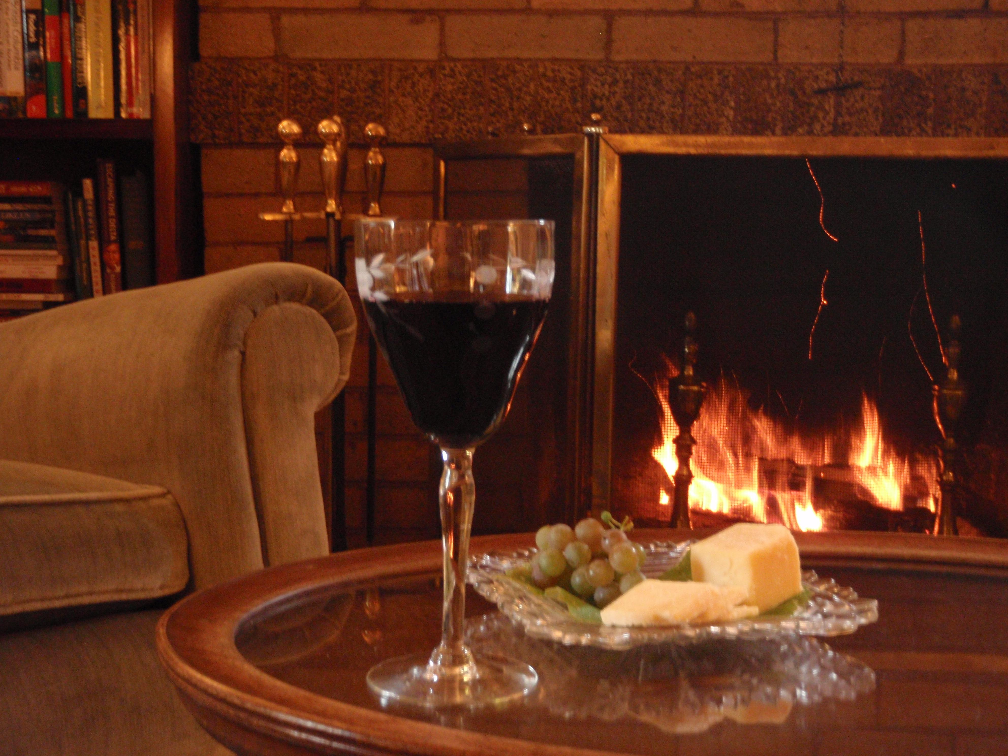 Enjoy complimentary afternoon hors d'oeuvres and beverages by a crackling fire.