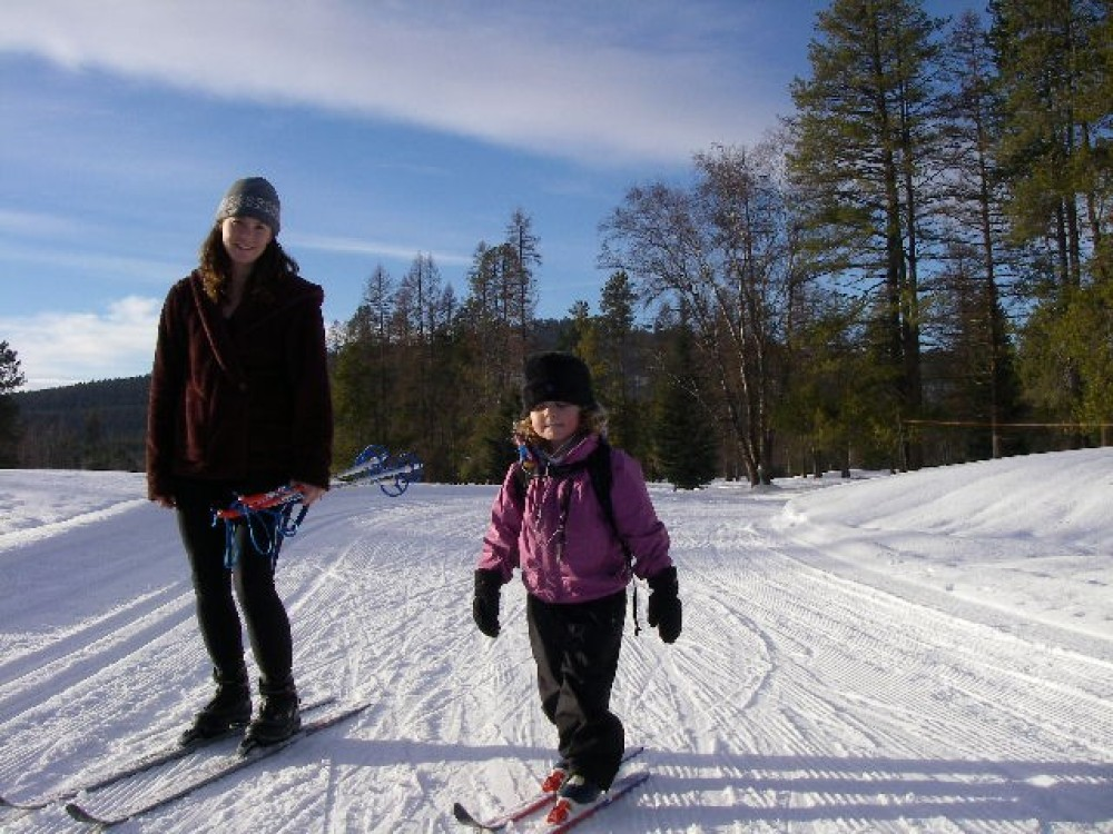 Out for a little after school ski. – Laura Nugent