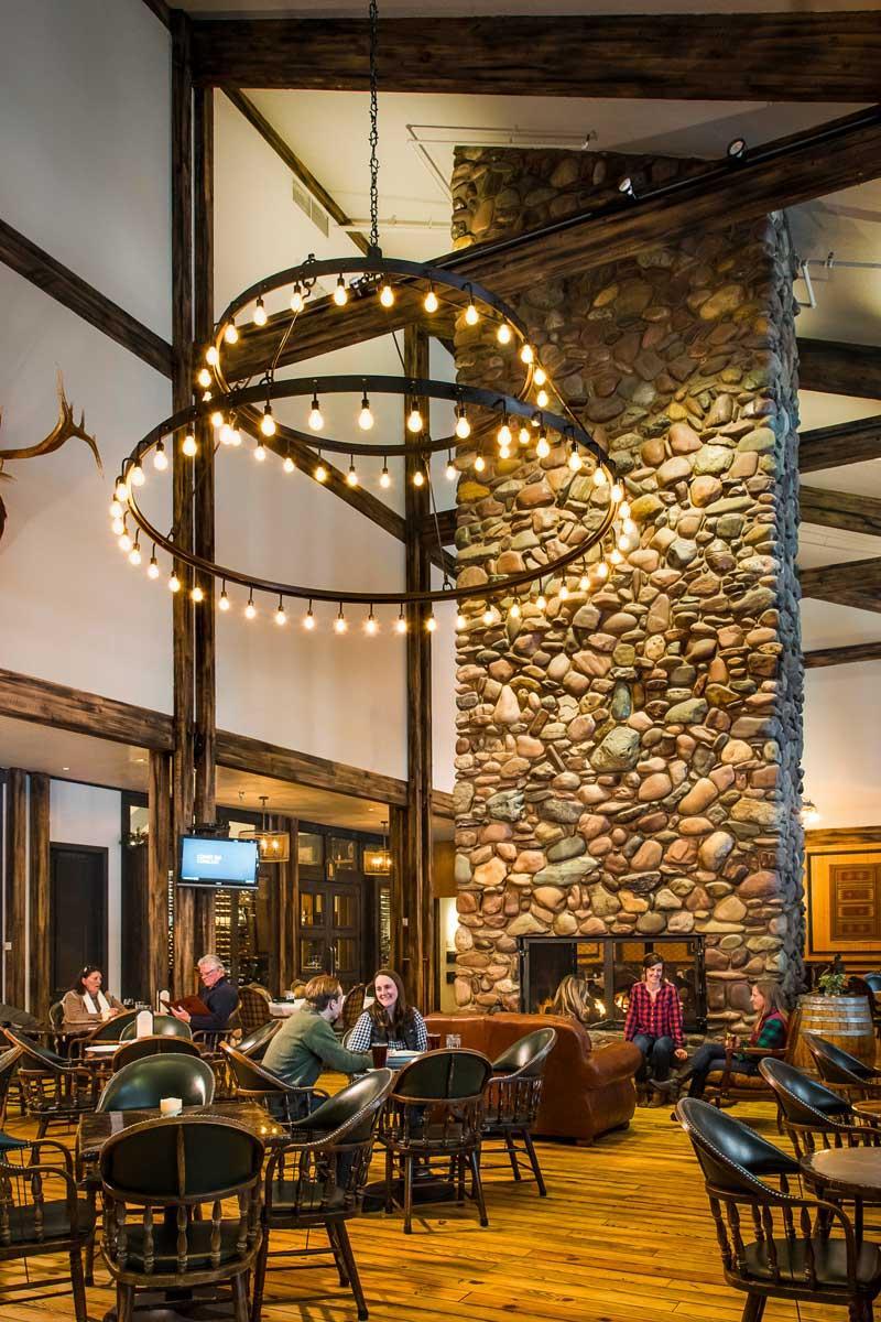The rustic & elegant decor of Logan's Bar & Grill