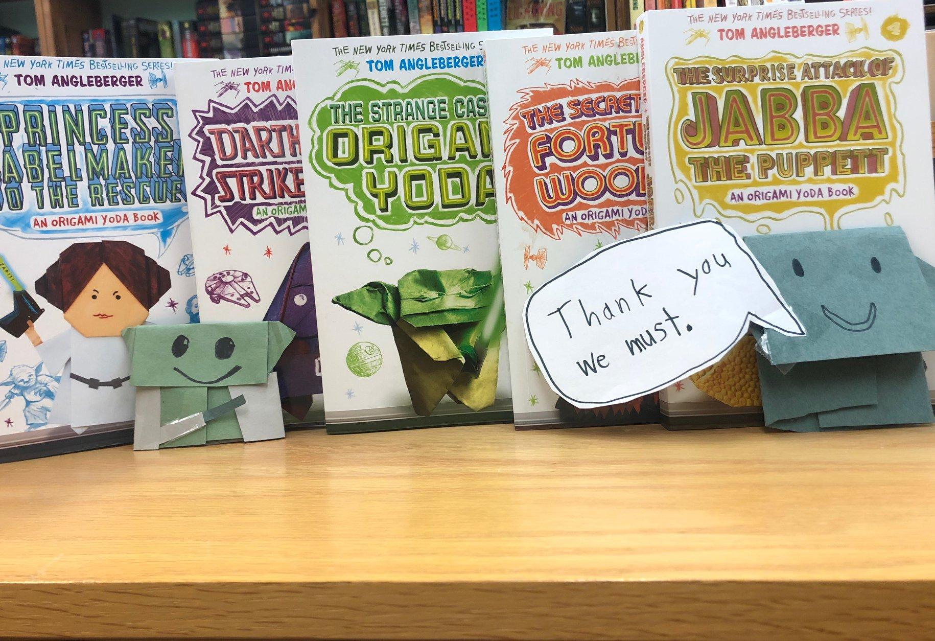 Origami Yoda Books, just one of the great gift ideas you'll find at Bookworks