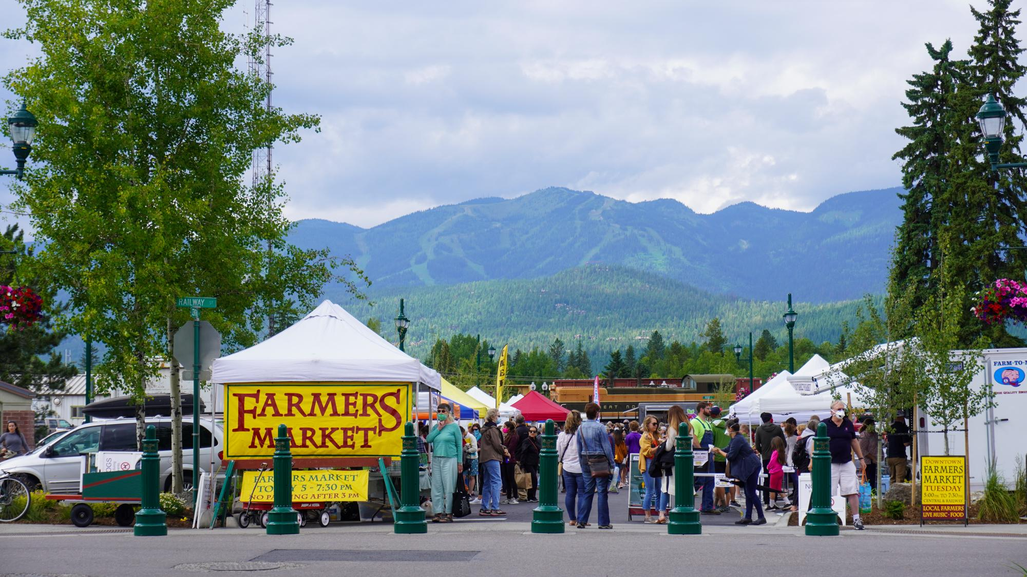 The Whitefish Farmers Market in Depot Park