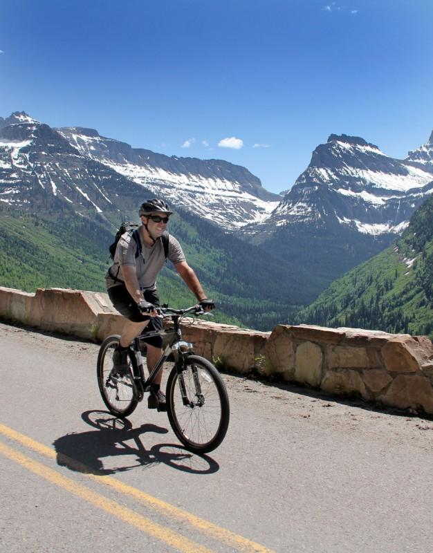 Cycling on Going-to-the-Sun Road, Photo: Brian Schott