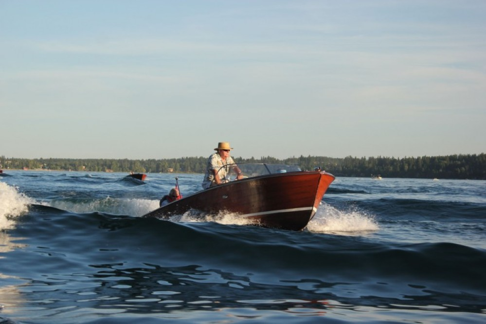Friday evening classic boat cruise. – Tim Salt