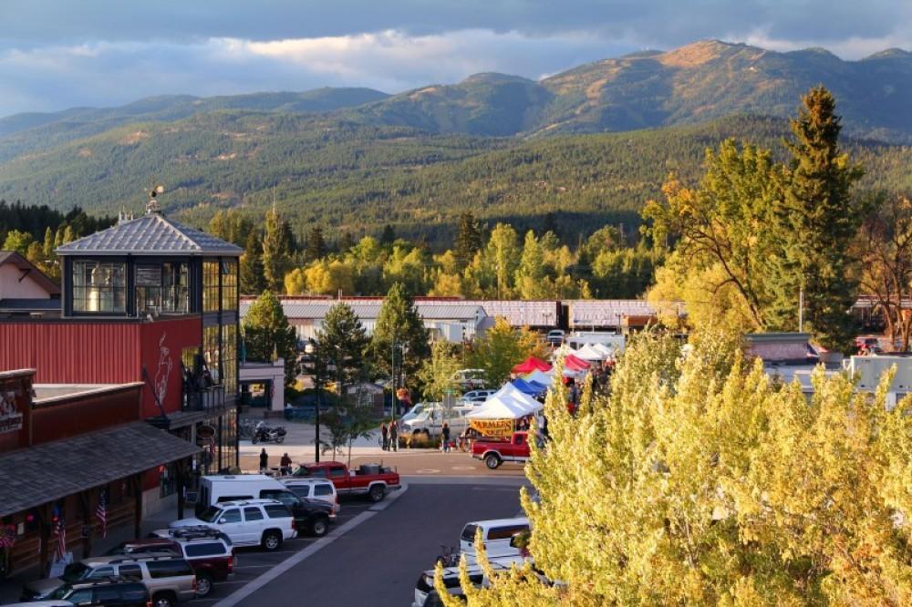 Farmer's market in downtown Whitefish, Montana. – Brian Schott