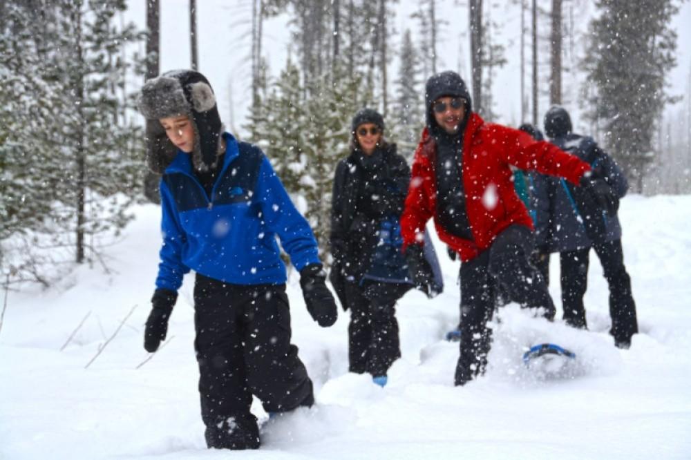 Having some fun in the deep snow around McGhee Meadows. – Devin Schmit