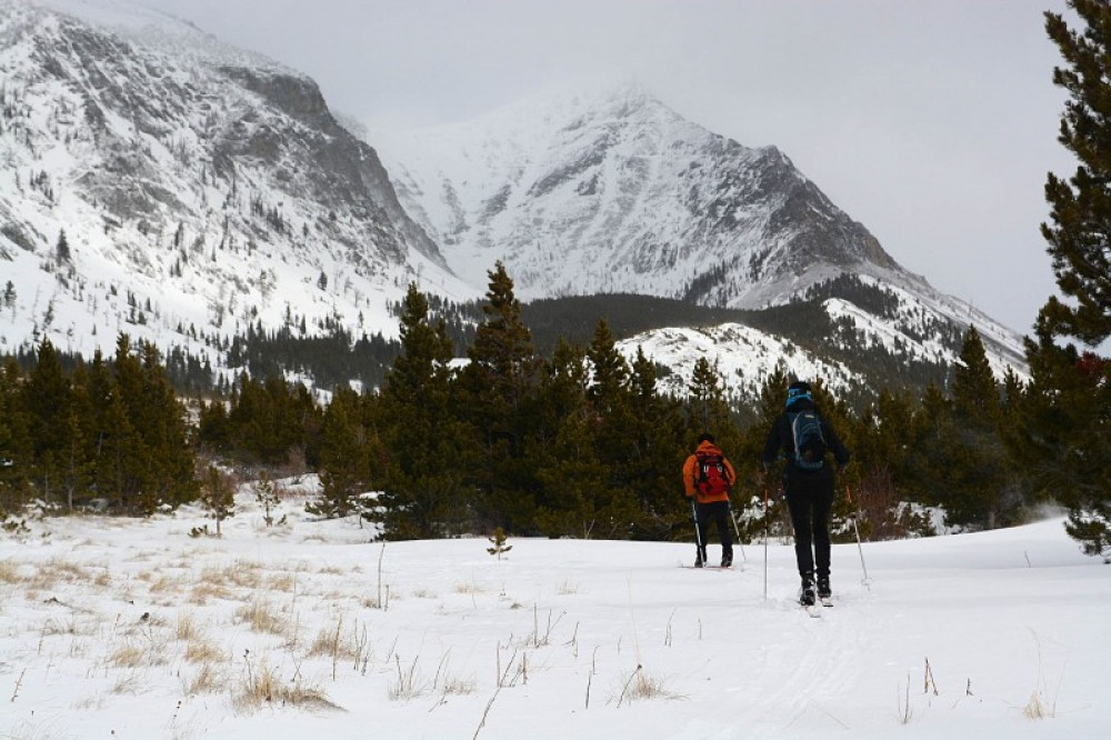 Cruising the fast snow at Autumn Creek on the Rocky Mountain Front in fast spring conditions. – Devin Schmit