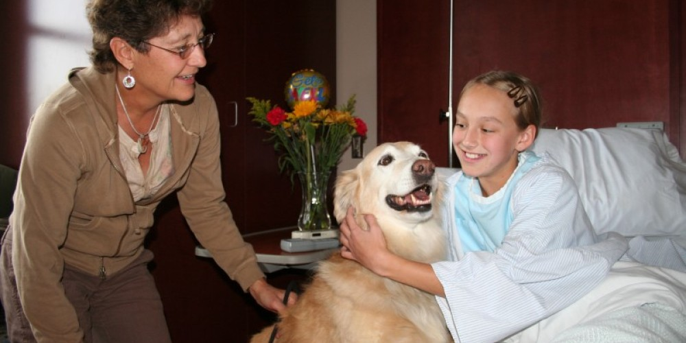 Pet visitation program delight patients