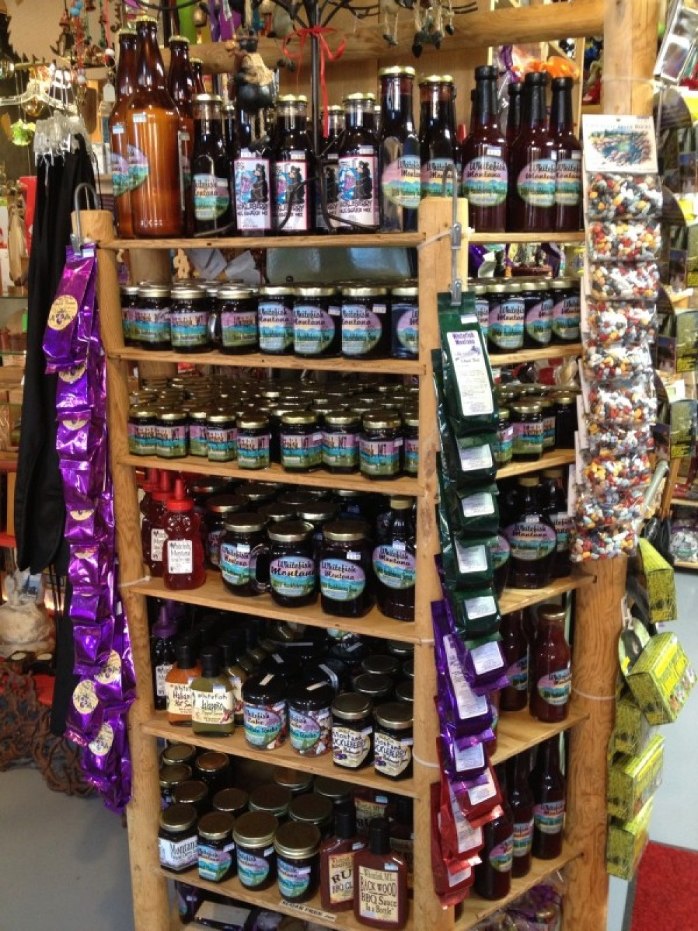 Huckleberry Products with our custom Whitefish label!
