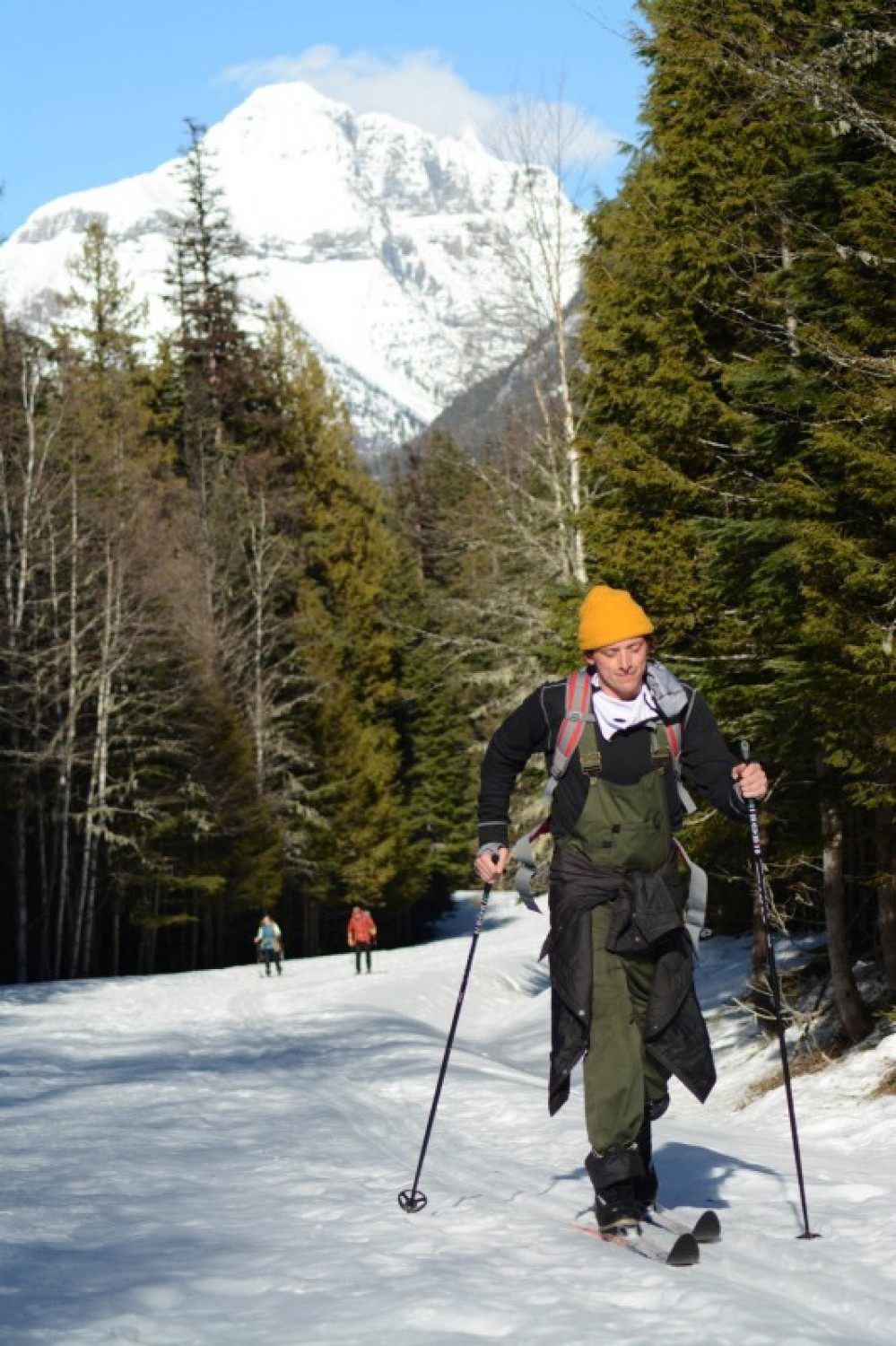 Skiing home on the Sun Road on a warm March afternoon. – Devin Schmit