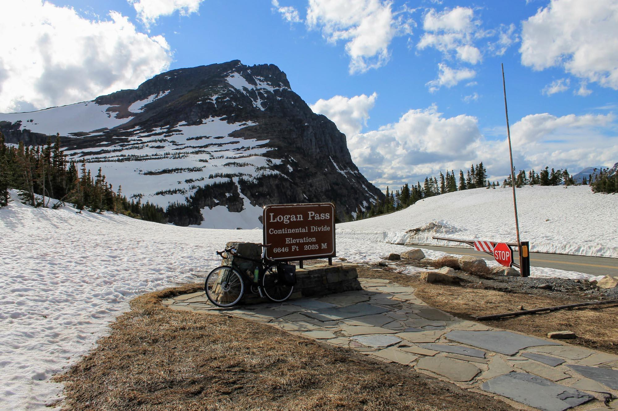 After approximately 16 miles and 3,200 vertical feet, Logan Pass awaits