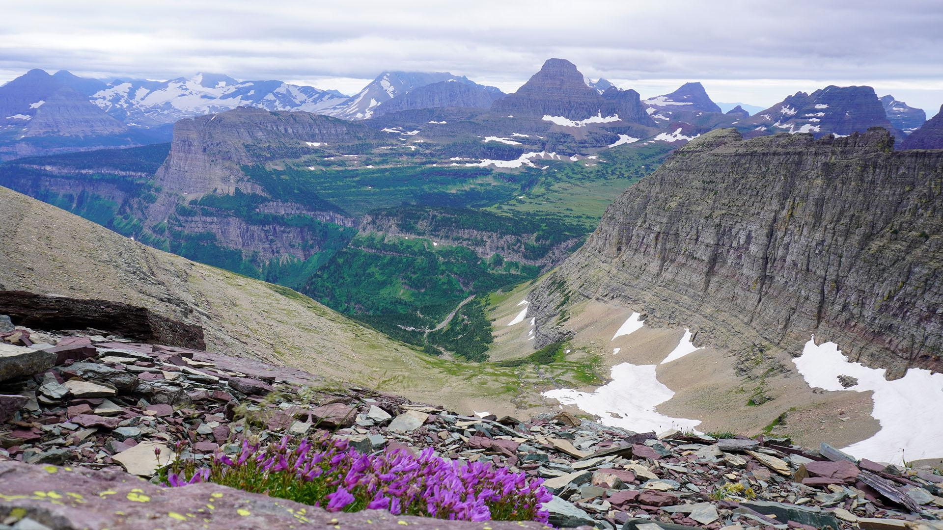 Glacier National Park offers stunning views in every direction