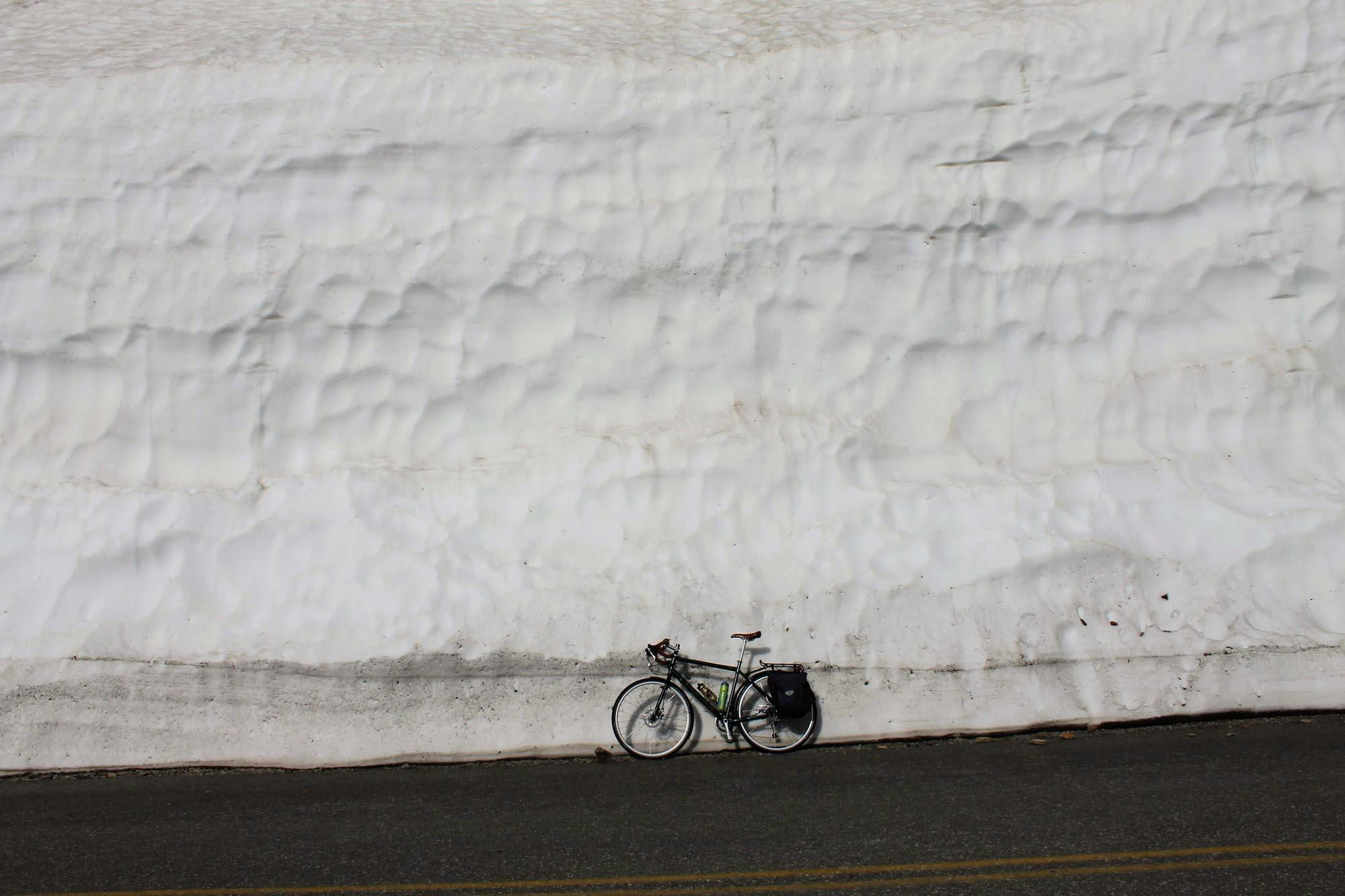 Going-to-the-Sun Road receives incredible amounts of snow during the winter