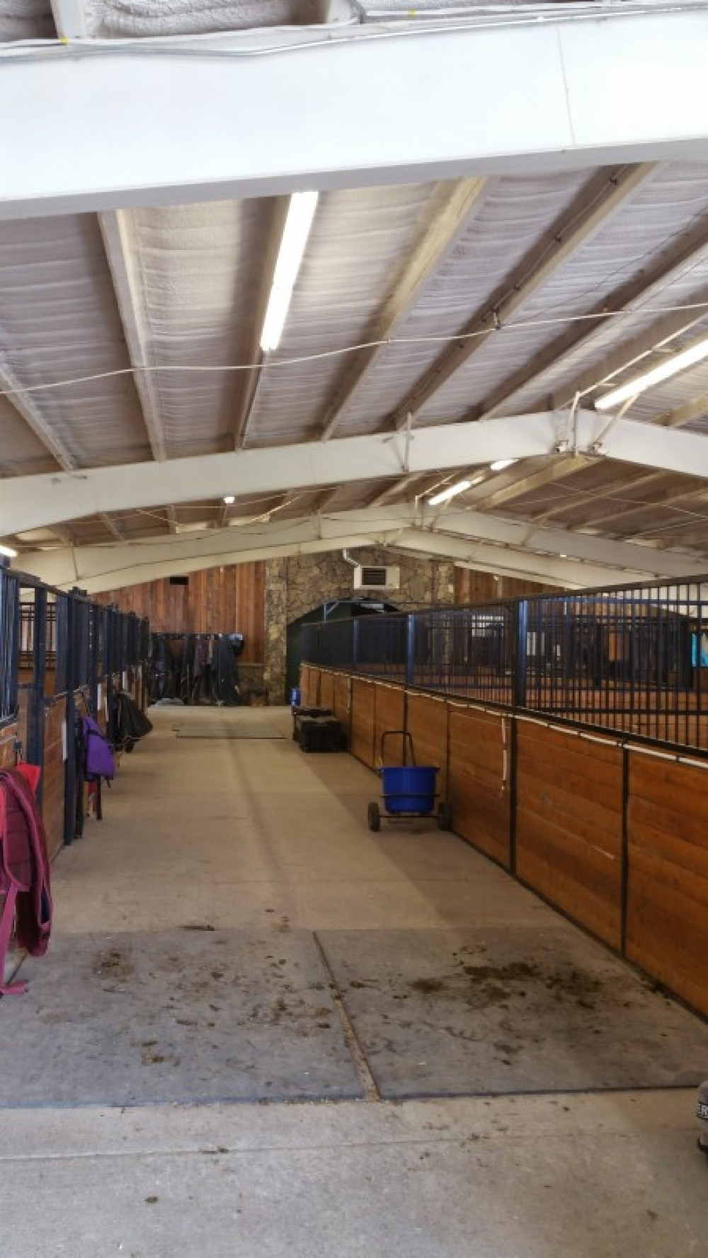 Inside Heated Barn