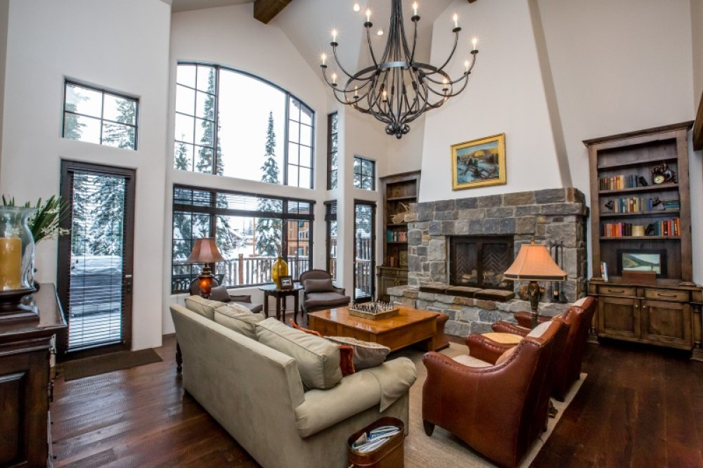 The great room in one of our Slopeside Homes – Green Kat Photography