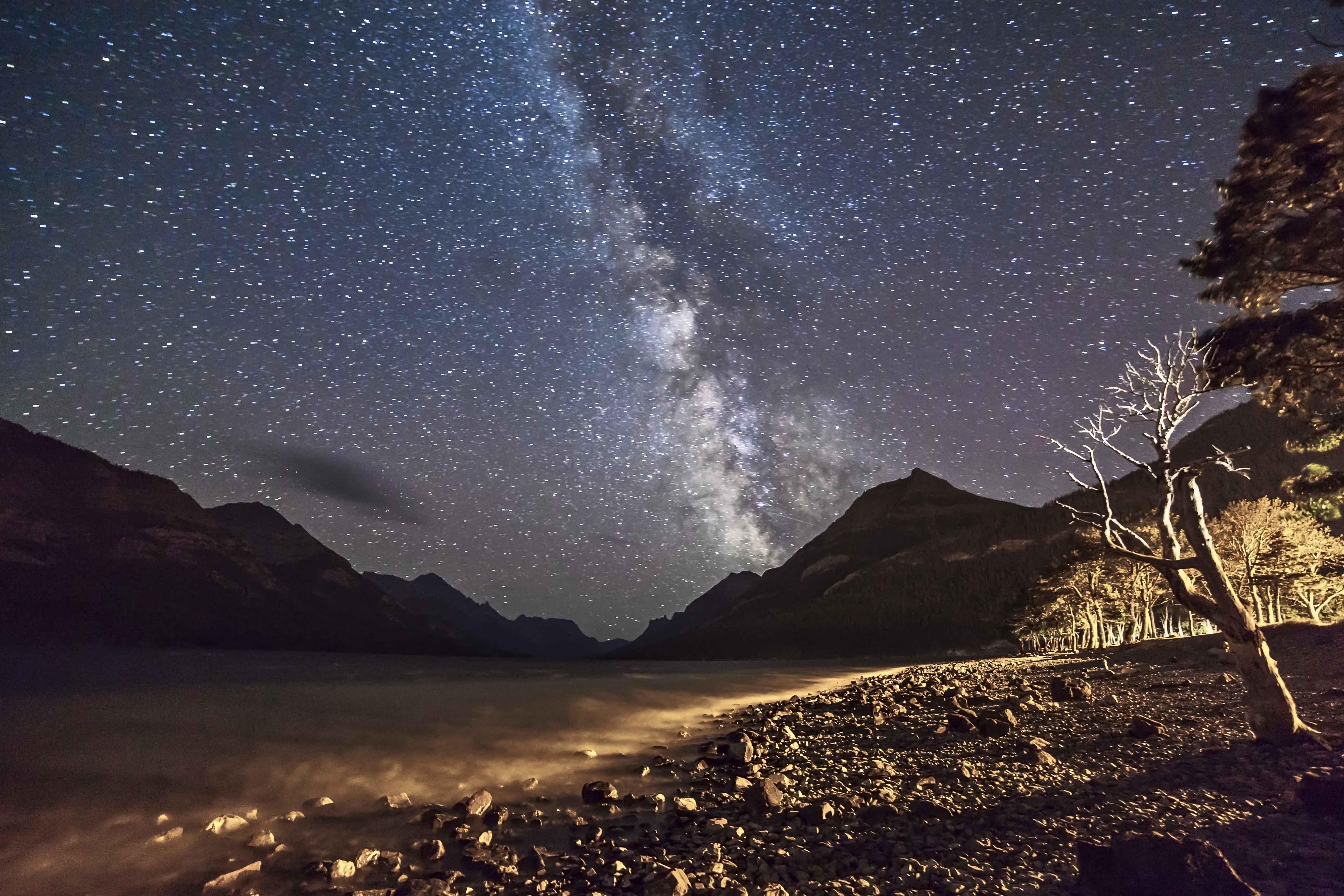 Milky Way Over Waterton Town Site